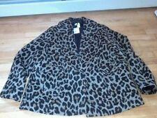 Nwt H & M womens  blazer leopard lined  14