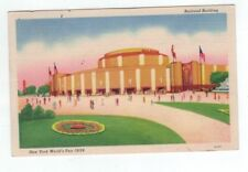NY New York City Worlds Fair 1939 post card Railroad Building