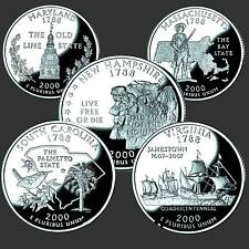 USA Quarter Dollar Pure Series 2000 D 5 Coins #