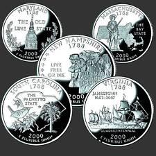 USA Quarter  Dollar Reine Serie 2000 D 5 Münzen #
