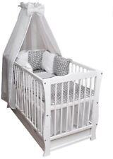 Babybett Kinderbett Bettset Minky komplett Matratze Schublade 120x60 weiß Neu