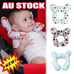 Baby U-Shaped Travel Auto Car Seat Stroller Head Neck Support Pillow Cushion BZ