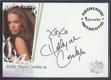 Charmed Destiny Autogramm Stechpalme Marie Kämmen / Piper A1