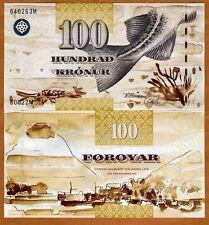 Faeroe Islands, 100 Kronur, (ND) 2002, P-25, UNC