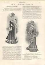 1901 Cavalier Coat Blue Velvet Chinchilla Ermine Black Braid