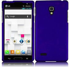 For LG Optimus L9 Rubberized HARD Protector Case  Phone Cover Blue