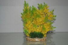 aquarium Vert & jaune haie plante 11x7x23 cm convient à tous les aquariums