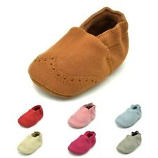 Toddler Baby Boys Girls Crib Shoes PU Leather Casual Moccasin Slip On Prewalker