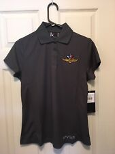 Indianapolis Motor Speedway ladies Medium embroidered shirt short sleeve