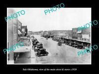 OLD LARGE HISTORIC PHOTO OF YALE OKLAHOMA, THE MAIN STREET & STORES c1920