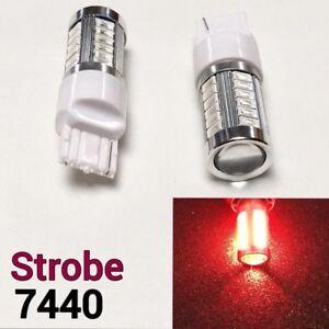 Strobe Rear Turn Signal LED 33 Bulb Red T20 w21w 7440 7441 992 B1 #12 For Dodge
