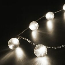 Konstsmide LED Lichterkette 20 massive Acryl Kugeln kalt weiß mit Multifunktion