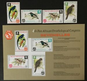 Seychelles. Birds. Ornithological Congress Set. SG369/MS73. 1976. MNH. #LC422
