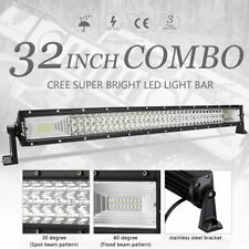 "32""INCH 3408W LED Work LIGHT BAR Spot Flood Offroad Truck SUV ATV 30"" Tri-Row"