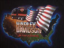 VINTAGE oem Harley Davidson Truck Large Tshirt Trucker 18 wheeler big rig flhtcu