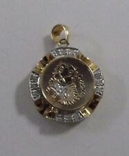 18k Yellow Gold Spinner Pendant Charm .750 Jewelry #GSP3018