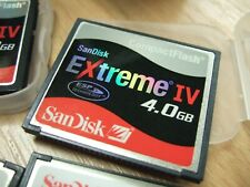 CompactFlash SANDISK EXTREME IV 4.0gb + Case Compact Flash Memory Card