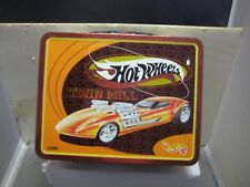 HOT WHEELS MINT CONDITION 1998 THERMOS TWIN MILL LUNCH BOX WITH THERMOS