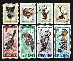 1966 - HUNGARY - MAGYAR POSTA - Fauna & Nature - 8 Stamps