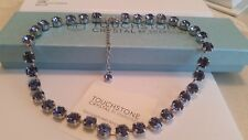 Touchstone Crystal by Swarovski Dark Purple Glitz Crystal Statement Necklace