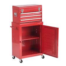 2PCS Tool Chest & Cabinet Storage Box Rolling Garage Toolbox H45