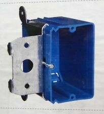 "Carlon Old Work B121ADJ Zip Box 1-Gang Outlet Box 3-3/8"" Depth PVC 21 Cu In Blue"