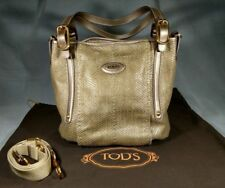 NEW $1665 TOD'S Beige Shirt G-line Easy Shopping Tote LARGE Shoulder Bag  ANB