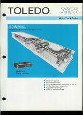 Super Rare Vintage Original Toledo Scale Brochure: 2875 Motor Truck Scales