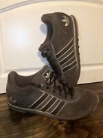 ADIDAS womens size 8 brown suede lace up tennis shoes sneakers athletic casual