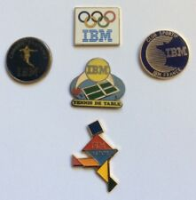 Lot 5 pin's Ibm computer computer table tennis as/400 olympics football