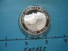 ALASKA YUKON MOOSE NORTH AMERICAN BIG GAME SLAM HUNTING 999 SILVER COIN #3