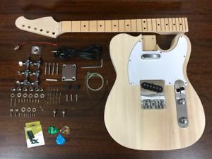 Haze E-218 Solid Body Electric Guitar DIY Kit,No-Soldering W Tuner, 3 Picks