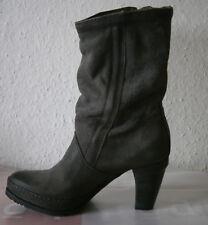 Air Step. Stiefel. Grau. Echt Leder. Gr. 37. Absatz 7,5 cm. Neuwertig.