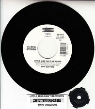"SPIN DOCTORS Little Miss Can't Be Wrong & Two Princes 7"" 45 rpm BRAND NEW RARE!"