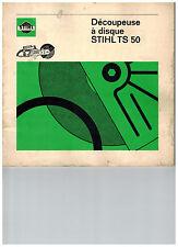 Notice manuel d'utilisation + vue éclatée pièces tronconneuse Stihl TS50
