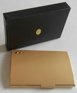 Business Card ID Credit Card Holder/Case Brass/Stainless Steel NIB