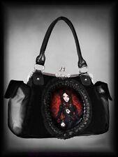 Victorianische Handtasche Tasche Red Gothic Doll Puppe Spitze Cameo schwarz