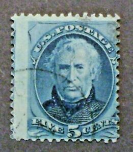 US  1875  Scott #185(?)   Blue Taylor stamp  -  Used