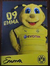 Handsignierte Autogrammkarte MASKOTTCHEN EMMA Borussia Dortmund 15/16 2015/2016
