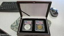 Wtc Ground Zero Recovery $50.00 Gold Maple Leaf & $1 Silver Eagle Set Lowered