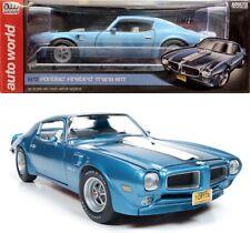 1972 Pontiac Firebird Trans Am Adriatic Blue 1:18 Auto World Ertl AMM1076