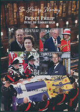 More details for tuvalu 2021 mnh royalty stamps prince philip duke of edinburgh memorial 4v m/s