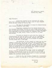 1935 letter to FORREST J ACKERMAN from his father William Ackerman, & more.
