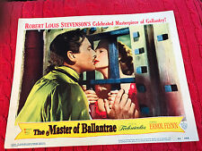 The Master Of Ballantrae 1953 Warner Brothers lobby card Errol Flynn Beatrice Ca