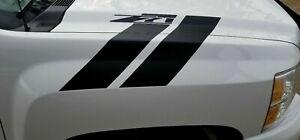 Silverado Chevrolet Hood Hash Marks stripe 2007-2013 Decal Sticker Vinyl 3M
