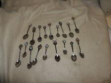 18 Souvenir Collectors Spoons Lot