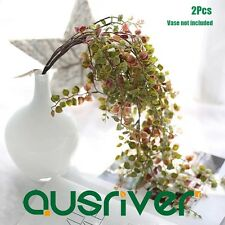 2Pcs Artificial Fake String Leaves Plants Home Ornaments Flower Decor Ivy Vine