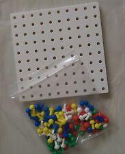 Clavija de tablero 100 orificios cuadrados 16cm X 16cm + 100 Clavijas Para Matemáticas Aprendizaje Y Juegos