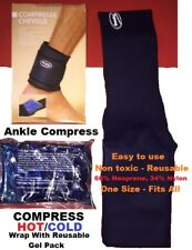 Ankle Compress Wrap With Reusable Hot/Cold Gel Pack