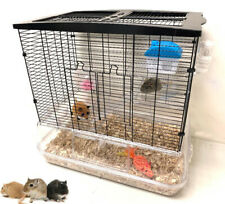 "24"" 3-Floor Acrylic Clear Cage Hamster Habitat Gerbil Guinea Pig Rodent Rat Mice"